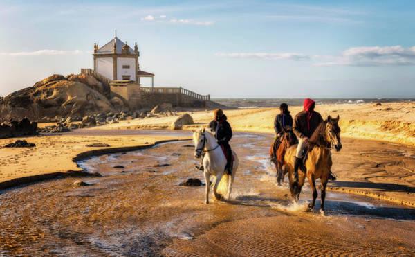 Photograph - Miramar Beach And Capela Do Senhor Da Pedra - Portugal by Nico Trinkhaus