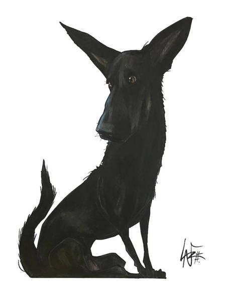 Drawing - Mireles Ruby by John LaFree