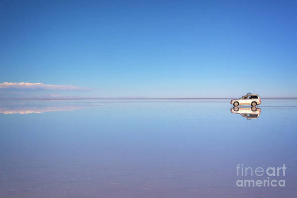 Wall Art - Photograph - Miror Effect In Salar De Uyuni, Bolivia by Delphimages Photo Creations