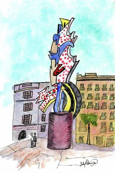 Painting - Roy Lichtenstein's El Cap by Judy Robinson
