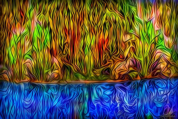 Digital Art - Mirror Lake Meditation by Joel Bruce Wallach