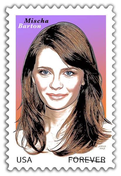 Digital Design Digital Art - Mischa Barton Stamp by Greg Joens