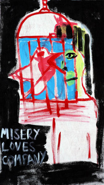 Painting - Misery Loves Company by Artist Dot