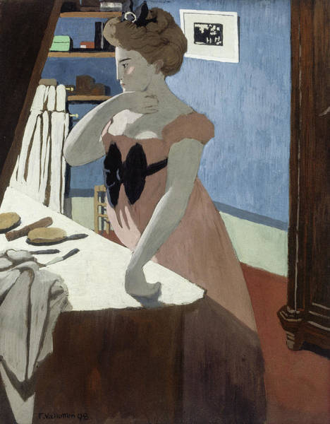 Wall Art - Painting - Misia At Her Dressing Table, 1898 by Felix Vallotton