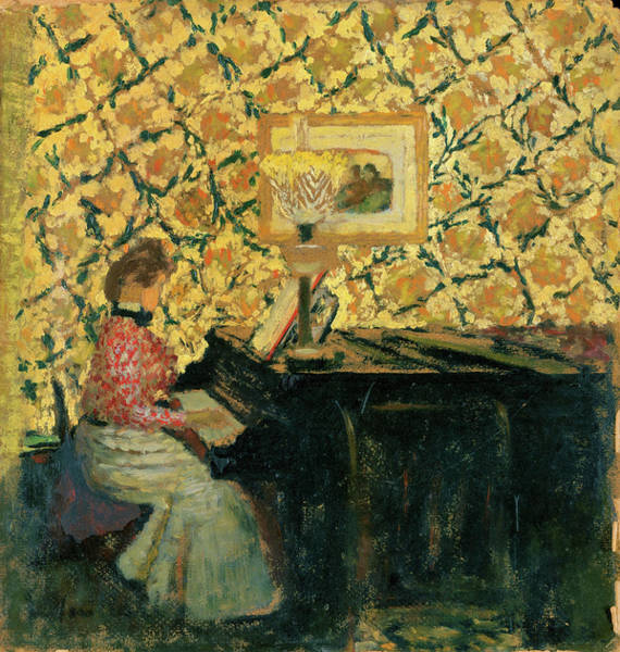 Grand Piano Painting - Misia At The Piano - Digital Remastered Edition by Edouard Vuillard