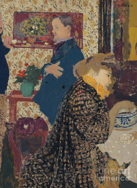 Wall Art - Painting - Misia Et Vallotton A Villeneuve by Edouard Vuillard