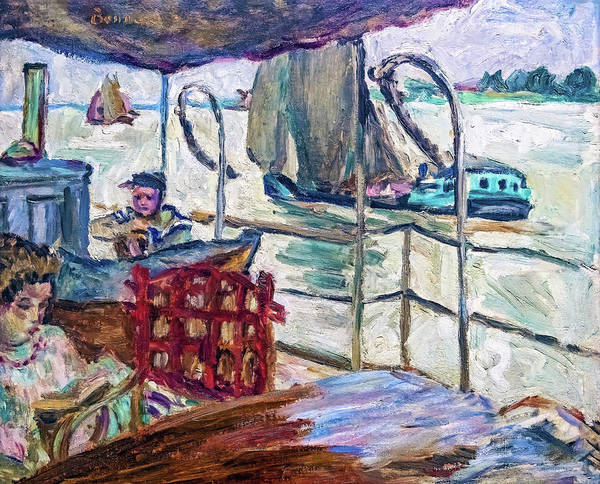 Wall Art - Painting - Misia Serves On Edwards' Ship - Digital Remastered Edition by Pierre Bonnard
