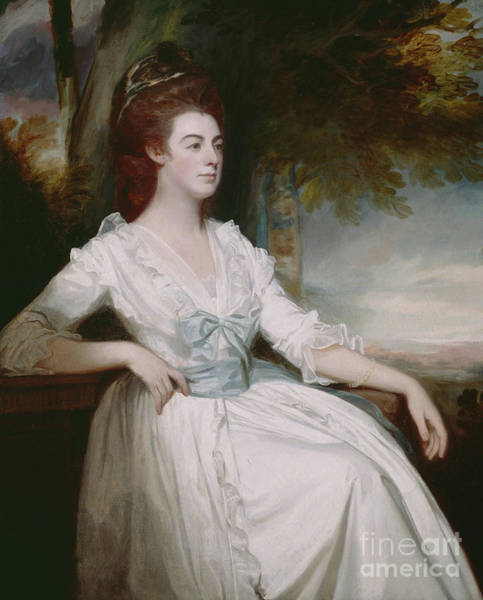 Romney Painting - Miss Clavering by George Romney