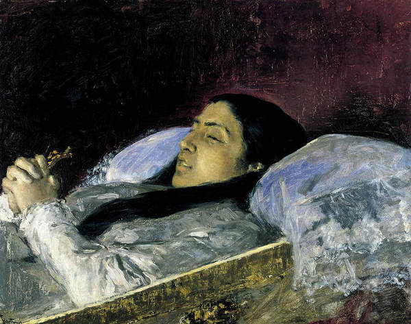 Painting - Miss Del Castillo On Her Deathbed by Maria Fortuny