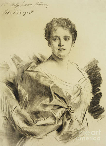 Wall Art - Drawing - Miss Susan Strong by John Singer Sargent