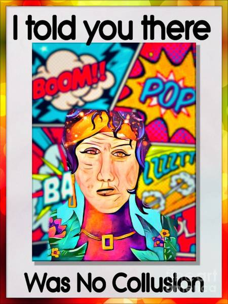 Wall Art - Digital Art - Miss Twiddly Dee Series When In Doubt Have Fatih by Debra Lynch