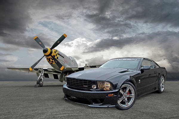 Mission Accomplished Wall Art - Photograph - Mission Accomplished - P51 With Saleen Mustang by Gill Billington