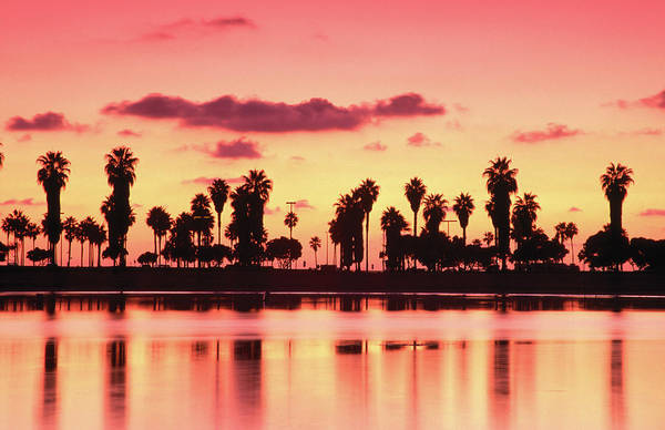 California Mission Photograph - Mission Bay At Sunset, San Diego by Richard Cummins