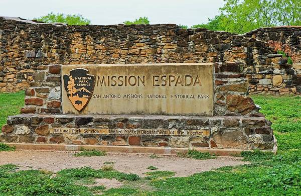 Photograph - Mission Espada by Michiale Schneider