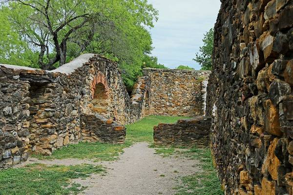 Photograph - Mission Espada Vi by Michiale Schneider