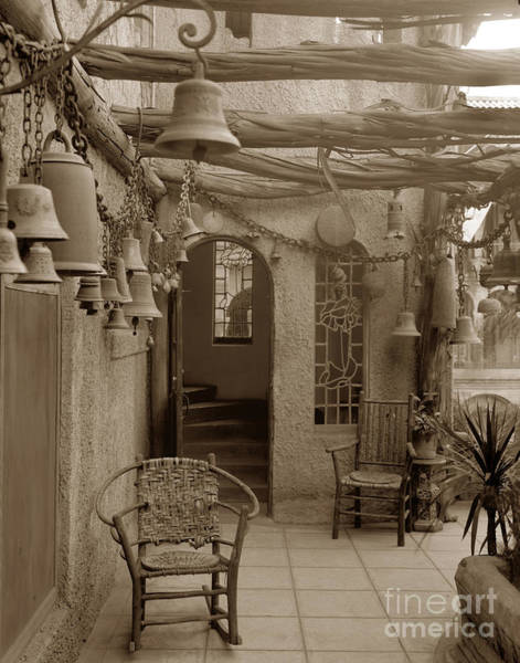 Photograph - Mission Inn View Garden Of Bells Riverside Circa 1912 by California Views Archives Mr Pat Hathaway Archives