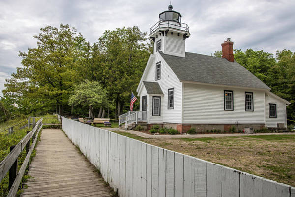 Wall Art - Photograph - Mission Point Lighthouse In Michigan  by John McGraw