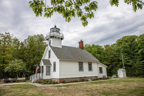 Wall Art - Photograph - Mission Point Lighthouse Michigan  by John McGraw
