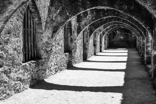 Photograph - Mission San Jose - San Antonio Texas Monochrome by Gregory Ballos