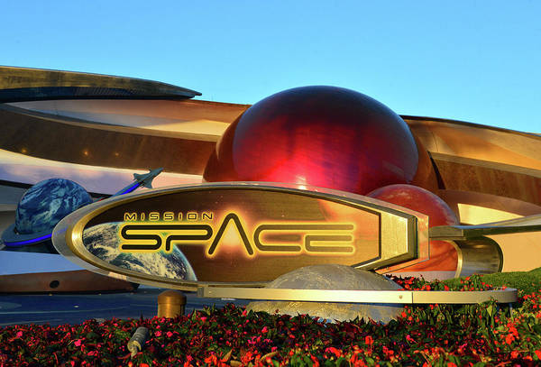 Wall Art - Photograph - Mission Space Entrance And Sign by David Lee Thompson