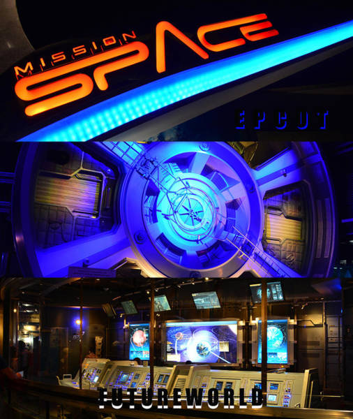 Space Station Mixed Media - Mission Space Retro Poster A by David Lee Thompson