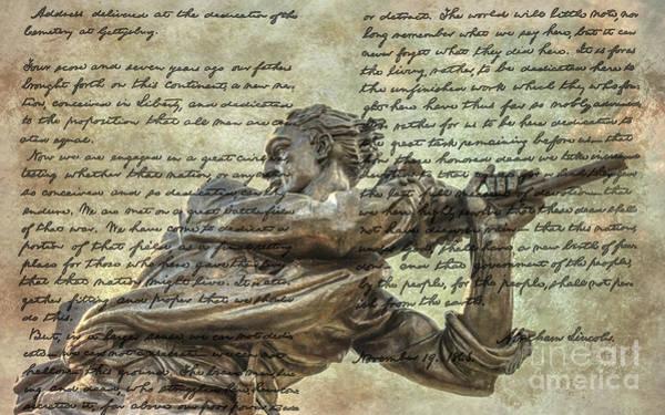 Wall Art - Digital Art - Mississippi Monument Gettysburg Address by Randy Steele