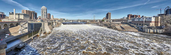 Wall Art - Photograph - Mississippi River At Flood Stage In Minneapolis by Jim Hughes