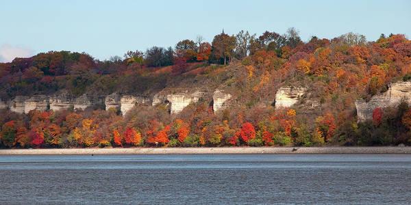 Photograph - Mississippi River Bluffs by Steve Stuller