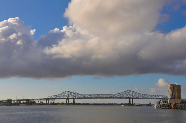 Wall Art - Photograph - Mississippi River - Huey P Long Bridge - New Orleans by Bill Cannon