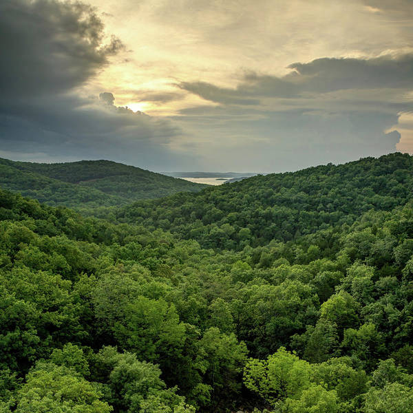 Wall Art - Photograph - Missouri Ozark Mountains Overlooking Table Rock Lake by Gregory Ballos