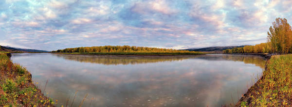 Photograph - Missouri Rive Sunset Panoramic by Leland D Howard