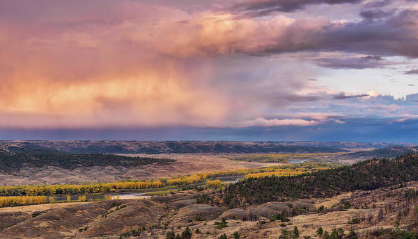 Photograph - Missouri River Storm Sunset by Leland D Howard