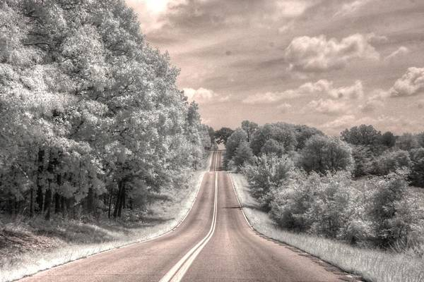 Wall Art - Photograph - Missouri Road Landscape Infrared by Jane Linders