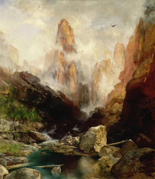 Wall Art - Painting - Mist In Kanab Canyon, Utah, 1892 by Thomas Moran