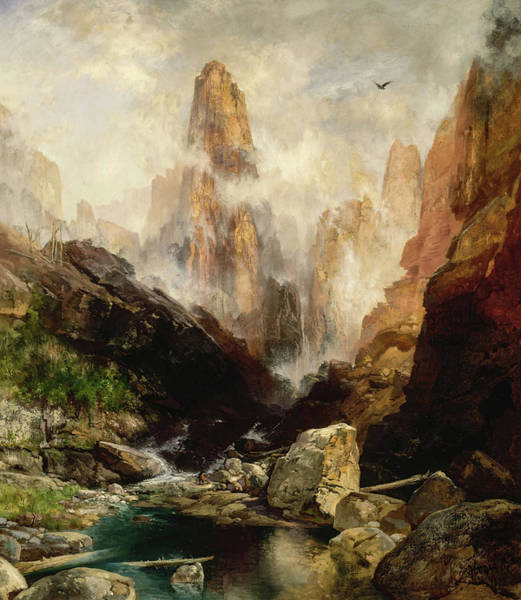 Wall Art - Painting - Mist In Kanab Canyon, Utah, 1893 by Thomas Moran