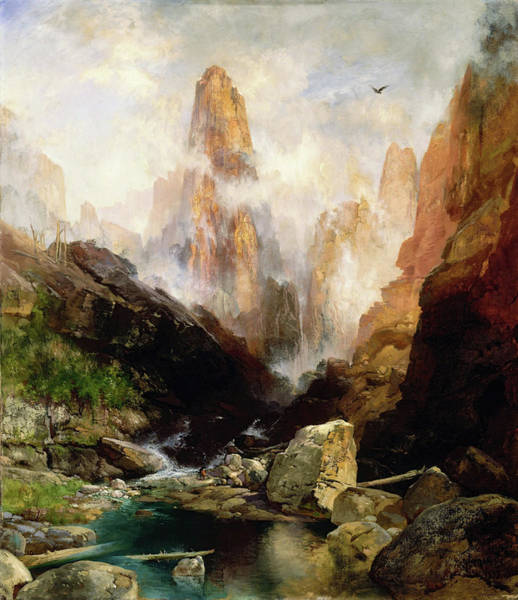 Wall Art - Painting - Mist In Kanab Canyon, Utah - Digital Remastered Edition by Thomas Moran