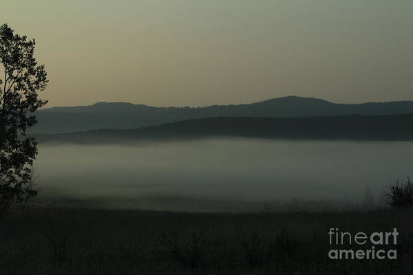 Photograph - Mist In The Valley by Ann E Robson