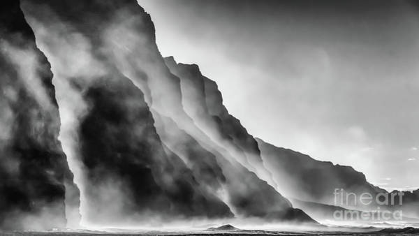 Photograph - Mist On The Rocks by Lyl Dil Creations