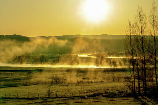 Wall Art - Photograph - Mist Over The River At Dawn by Judi Dressler
