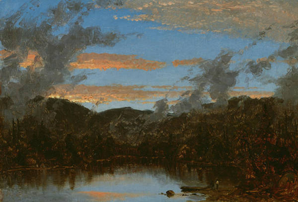 Wall Art - Painting - Mist Rising At Sunset In The Catskills by Sanford Robinson Gifford