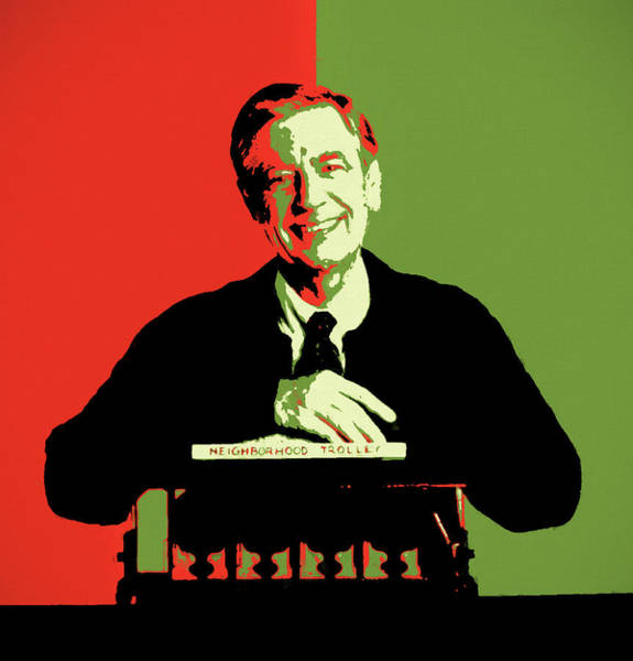 Painting - Mister Rogers Pop Art by Dan Sproul