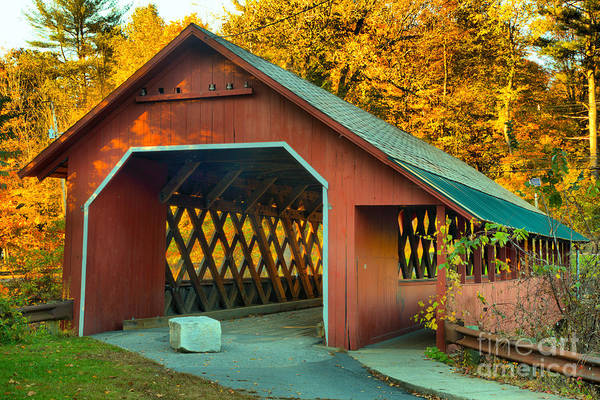 Photograph - Misty Afternoon At The Creamery Covered Bridge by Adam Jewell