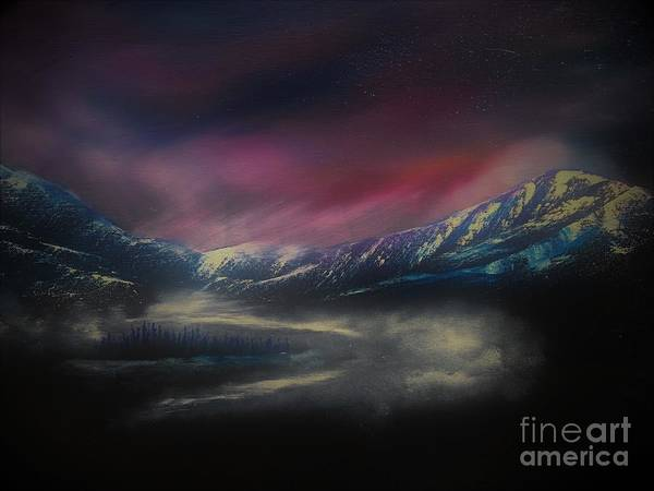 Wall Art - Painting - Misty August Morning by Barbie Olstad
