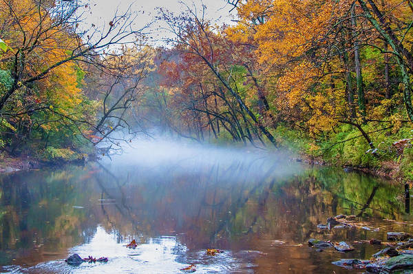 Wall Art - Photograph - Misty Autumn Morning - Wissahickon Creek by Bill Cannon