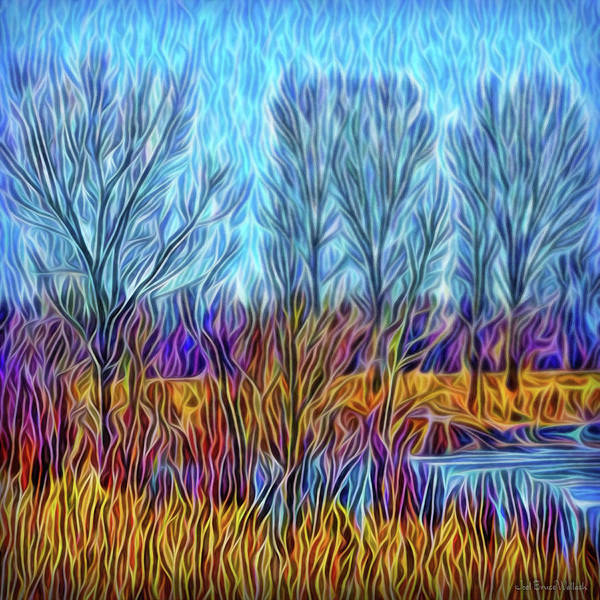 Digital Art - Misty Blue Day by Joel Bruce Wallach