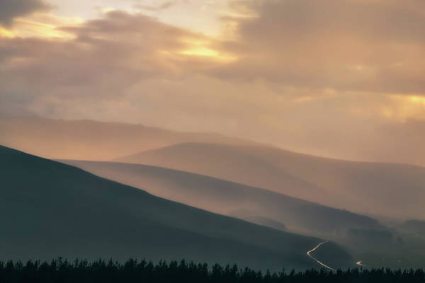 Cairngorms Photograph - Misty Cairngorms Sunset by Chris Fletcher