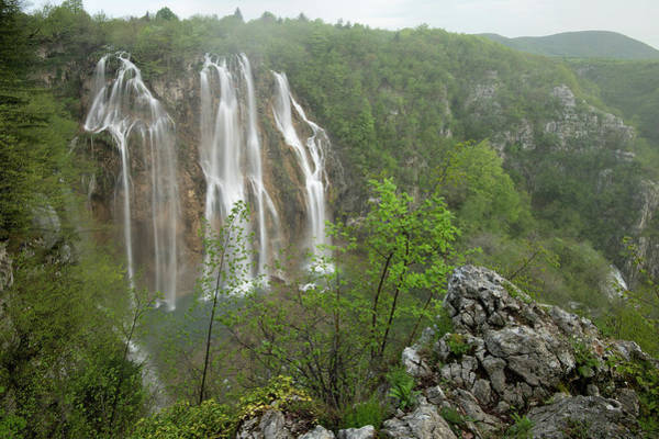 Wall Art - Photograph - Misty Falls by Christian Heeb