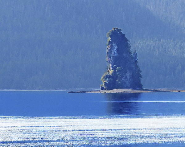 Photograph - Misty Fjords Eddystone Rock by Russ Harris