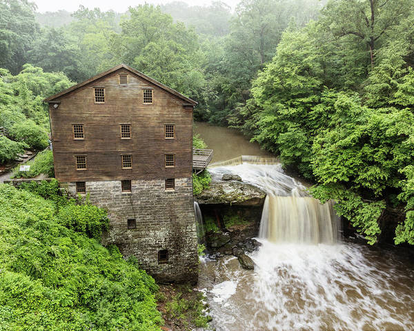 Wall Art - Photograph - Misty Morning At Lanterman's Mill - #2 by Stephen Stookey