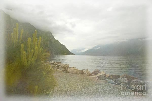 Digital Art - Misty Morning At The Lake by Liz Alderdice